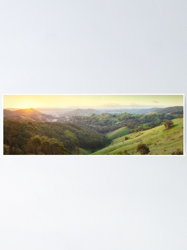 Alternate view of Valley of a Thousand Hills, Murchison Gap, Victoria, Australia Poster
