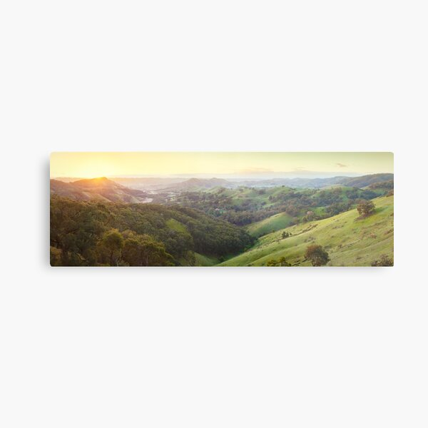Valley of a Thousand Hills, Murchison Gap, Victoria, Australia Metal Print