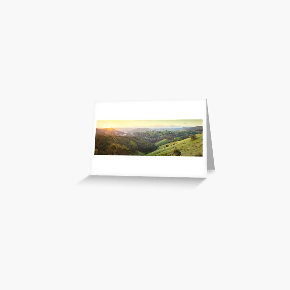 Valley of a Thousand Hills, Murchison Gap, Victoria, Australia Greeting Card