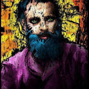 Hipster Jesus. A portrait of Edouard Manet by Brett Sixtysix  by brett66