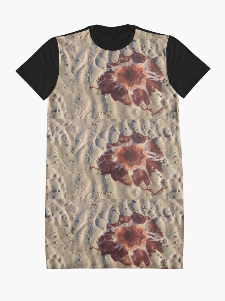 Alternate view of Stunning red jellyfish at Maidens Beach Graphic T-Shirt Dress