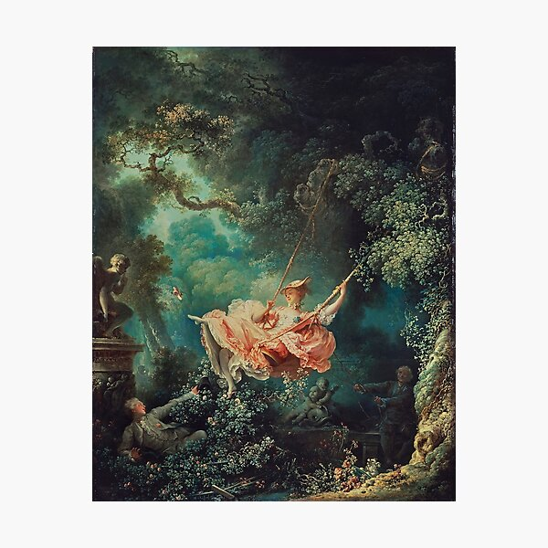 The Swing Painting - Jean-Honoré Fragonard Photographic Print