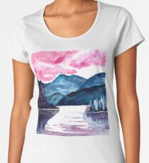 Moody Mountains  Women's Premium T-Shirt