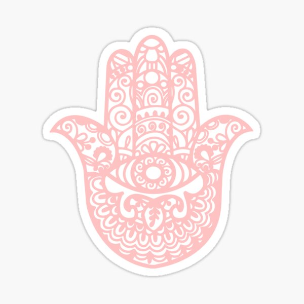 Hamsa Hand of Fatima | light pastel pink | Globetrotter Sticker