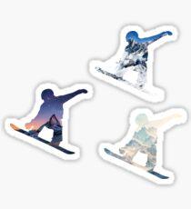 3 tiny Snowboard stickers Sticker