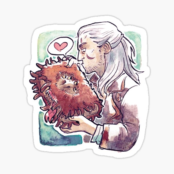 Witcher and Monsterbook of Monster Sticker