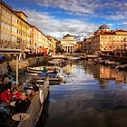 Trieste. The Canal and the St. Antonio church. by Pino Esposito