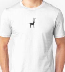 Pretty Reindeer Black Unisex T-Shirt