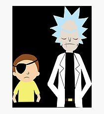 Evil Rick and Morty [PLAIN] Photographic Print