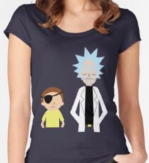 Evil Rick and Morty [PLAIN] Women's Fitted Scoop T-Shirt