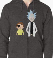 337dd96d00b4 Evil Rick and Morty  PLAIN  Zipped Hoodie