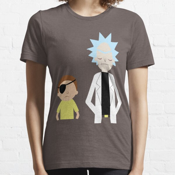 Evil Rick and Morty [PLAIN] Essential T-Shirt