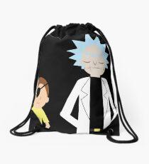 Evil Rick and Morty [PLAIN] Drawstring Bag