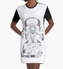 Flys in mallorca Graphic T-Shirt Dress
