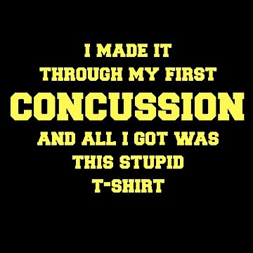 Concussion Recovery Gift Get Well Soon Sports Injury Funny Design by mrkprints