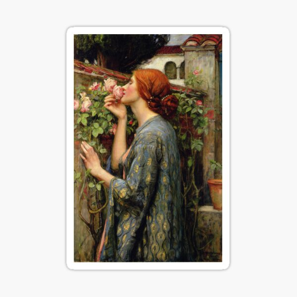 The Soul of the Rose -  John William Waterhouse Sticker