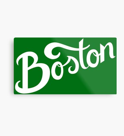 Boston Hand Lettering Metal Print