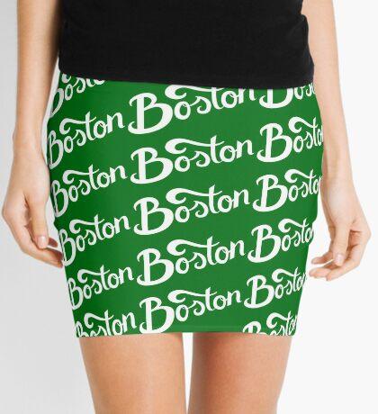 Boston Hand Lettering Mini Skirt
