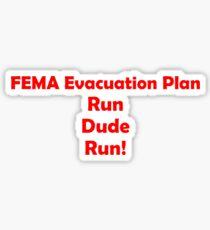 FEMA Evacuation Plan Glossy Sticker