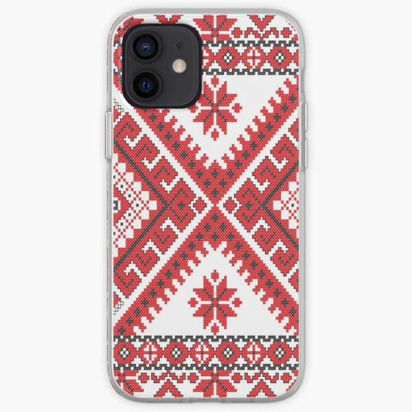 Ukraine Pattern - Ukrainian embroidery: вишивка, vyshyvka, #Ukraine #Pattern #Ukrainian #embroidery #вишивка #vyshyvka UkrainePattern #UkrainianEmbroidery #Украина iPhone Soft Case
