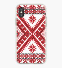 Ukraine Pattern - Ukrainian embroidery: вишивка, vyshyvka, #Ukraine #Pattern #Ukrainian #embroidery #вишивка #vyshyvka UkrainePattern #UkrainianEmbroidery #Украина iPhone Case