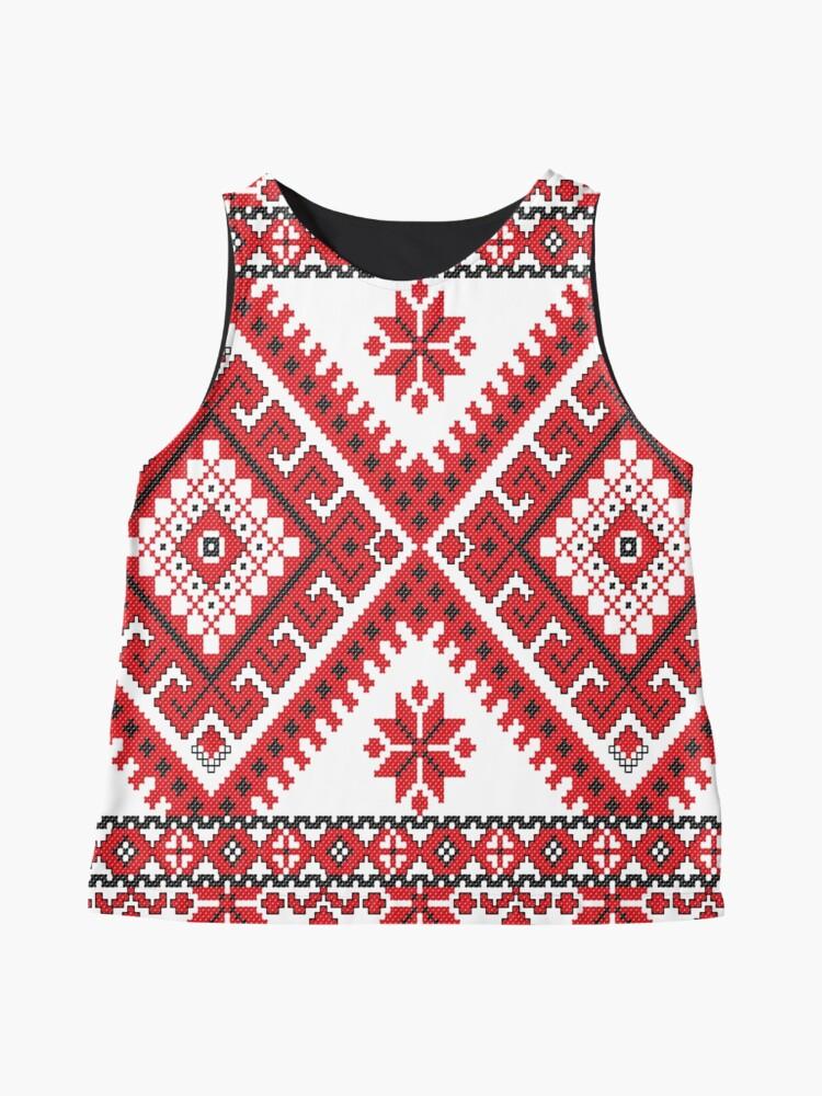 Alternate view of Ukraine Pattern - Ukrainian embroidery: вишивка, vyshyvka, #Ukraine #Pattern #Ukrainian #embroidery #вишивка #vyshyvka UkrainePattern #UkrainianEmbroidery #Украина Sleeveless Top
