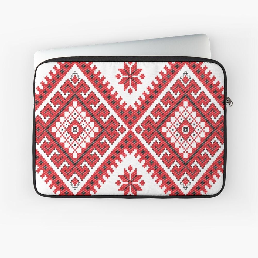Ukraine Pattern - Ukrainian embroidery: вишивка, vyshyvka, #Ukraine #Pattern #Ukrainian #embroidery #вишивка #vyshyvka UkrainePattern #UkrainianEmbroidery #Украина Laptop Sleeve