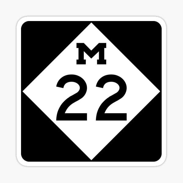 Michigan M-22 | Leelanau Scenic Heritage Route | United States Highway Shield Sign Sticker Sticker