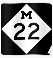 Michigan M-22 | Leelanau Scenic Heritage Route | United States Highway Shield Sign Sticker Poster