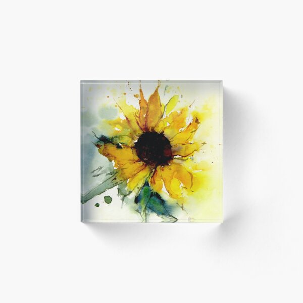 sunflower Acrylic Block