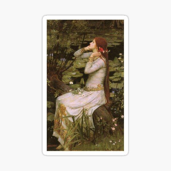 Ophelia - John William Waterhouse Sticker