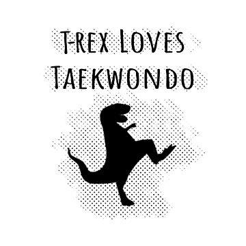 T-Rex Loves Taekwondo Screentone Effect by Almdrs