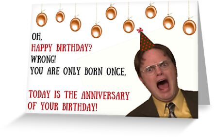 Dwight Schrute The Office Us Birthday Card Meme Greeting Cards