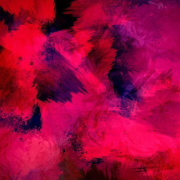 Pink Smudge Abstract Print by Sandyram