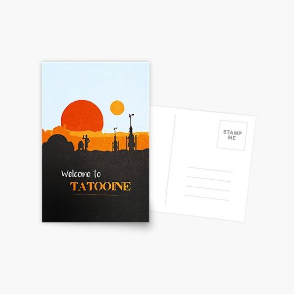 Willkommen in Tatooine Postkarte
