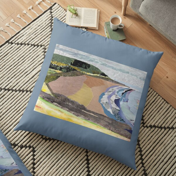 Croyde Bay collage Floor Pillow