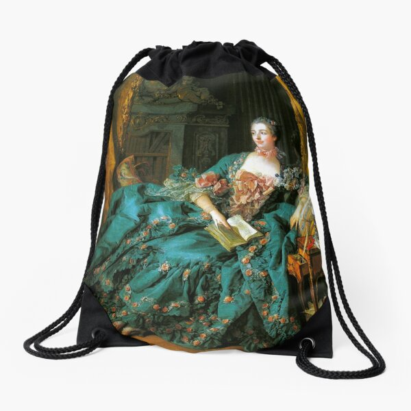 Madame de Pompadour-Francois Boucher Drawstring Bag
