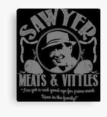Sawyer Meats and Vittles Canvas Print