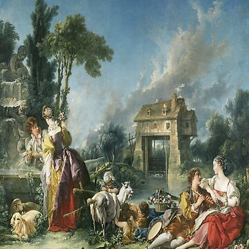 The Fountain of Love(La fontaine d`amour)-Francois Boucher by LexBauer