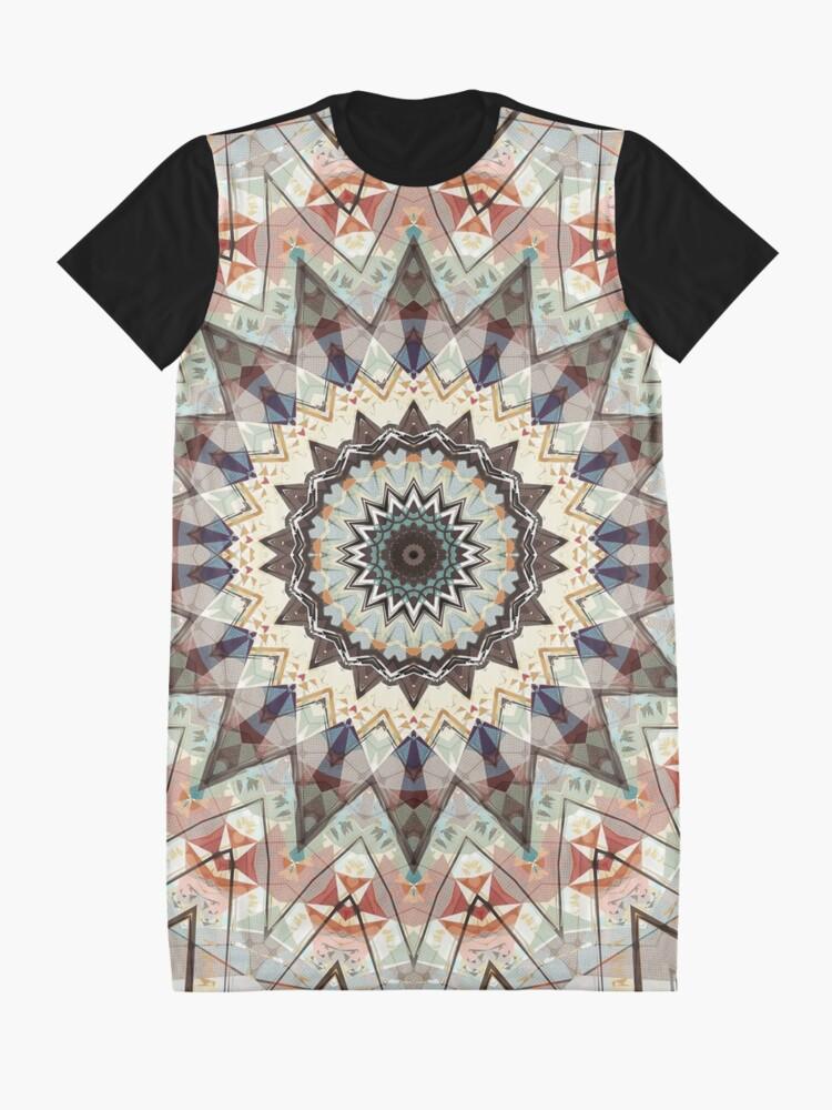 Alternate view of Colors of Autumn Mandala Graphic T-Shirt Dress