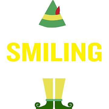 Just Like Smiling Sarcasm Christmas Phrase Saying by JapaneseInkArt