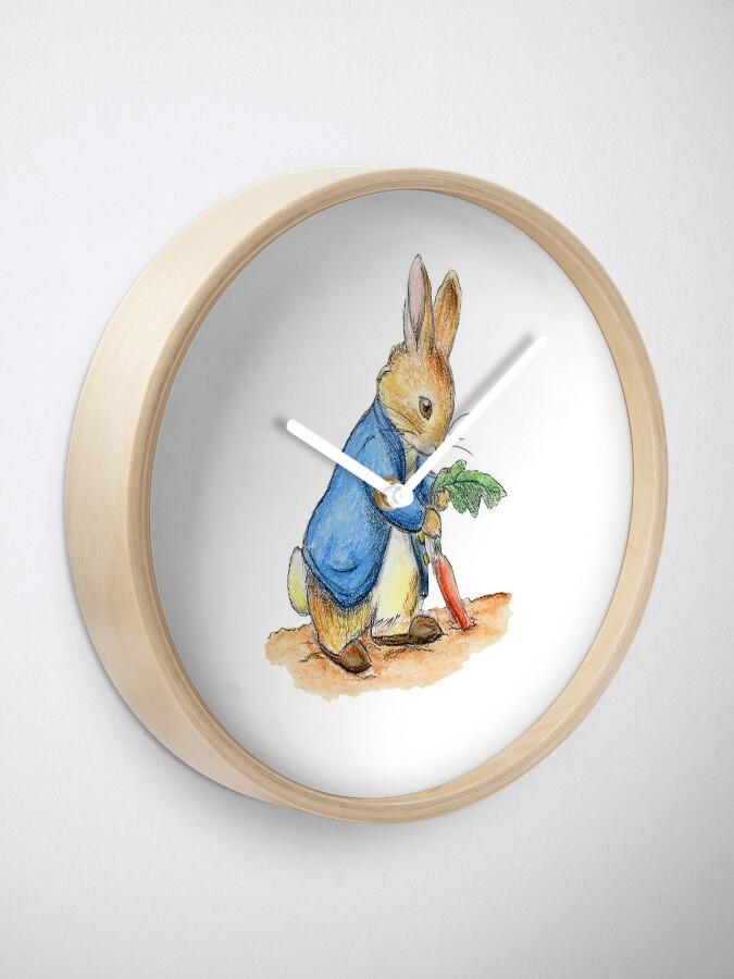 Alternative Ansicht von Kindergartenfiguren, Peter Rabbit, Beatrix Potter. Uhr