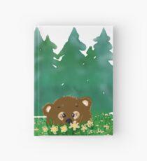 Bear in flowers Hardcover Journal