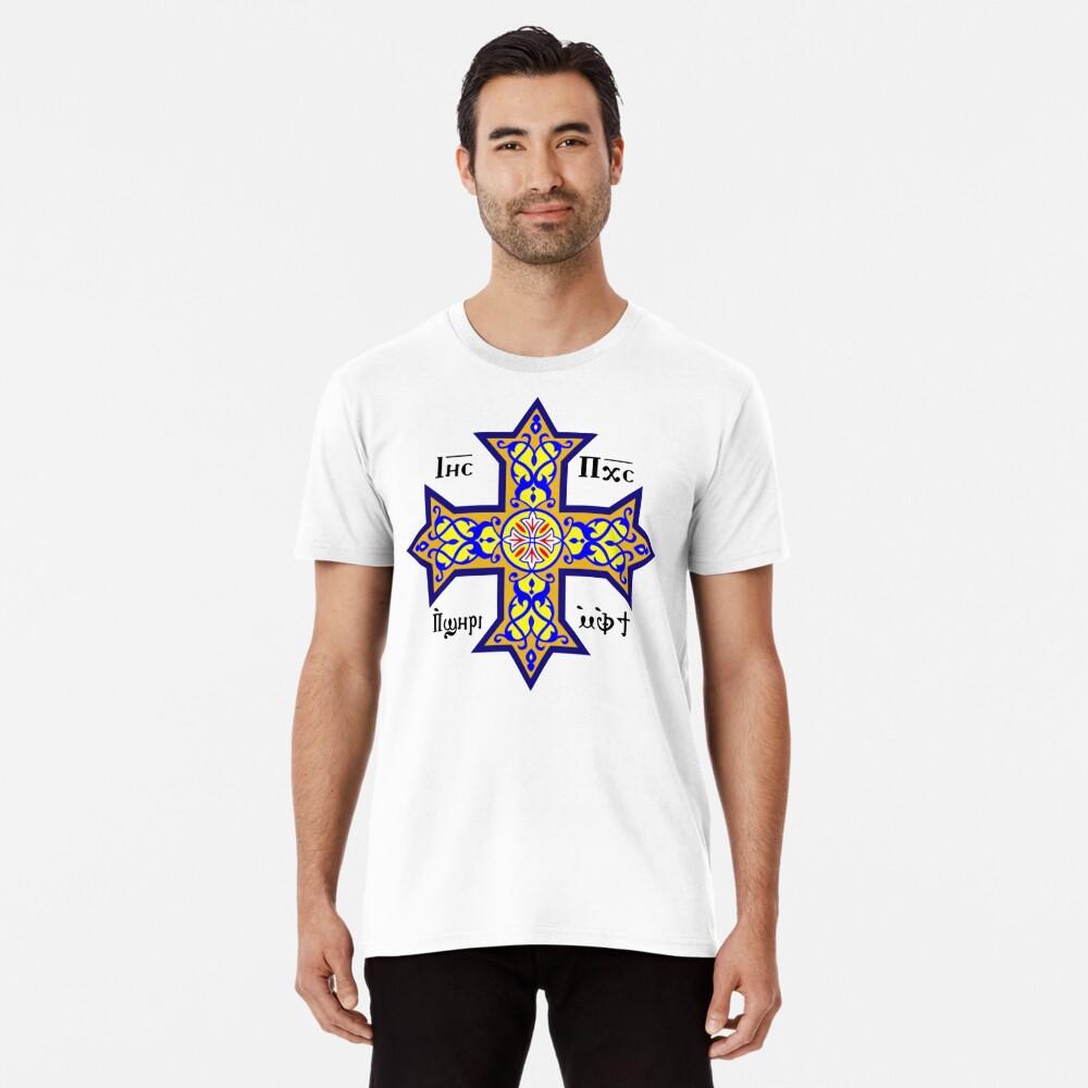 Cross, Coptic cross, colour, Contemporary design used by the Coptic Catholic Church. Premium T-Shirt