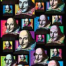 WILLIAM SHAKESPEARE FUNKY-COLOURS POP-ART COLLAGE by Clifford Hayes