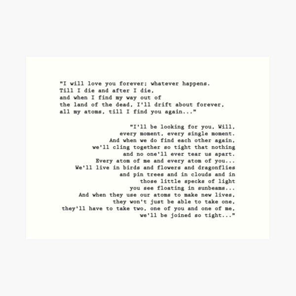 'Till I find you again - His Dark Materials Art Print