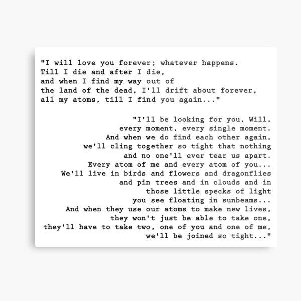 'Till I find you again - His Dark Materials Metal Print
