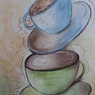 Coffee for two- Pastel Painting by Esperanza Gallego
