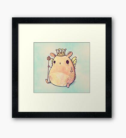 Prince Angel of Bunnyland Framed Print