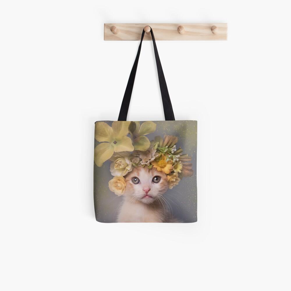 Flower Power, Stier das Kätzchen Stofftasche